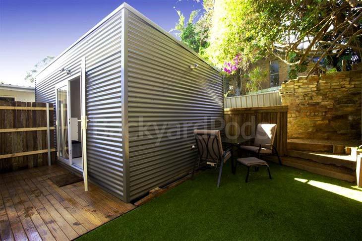Backyard Pod manicured lawn