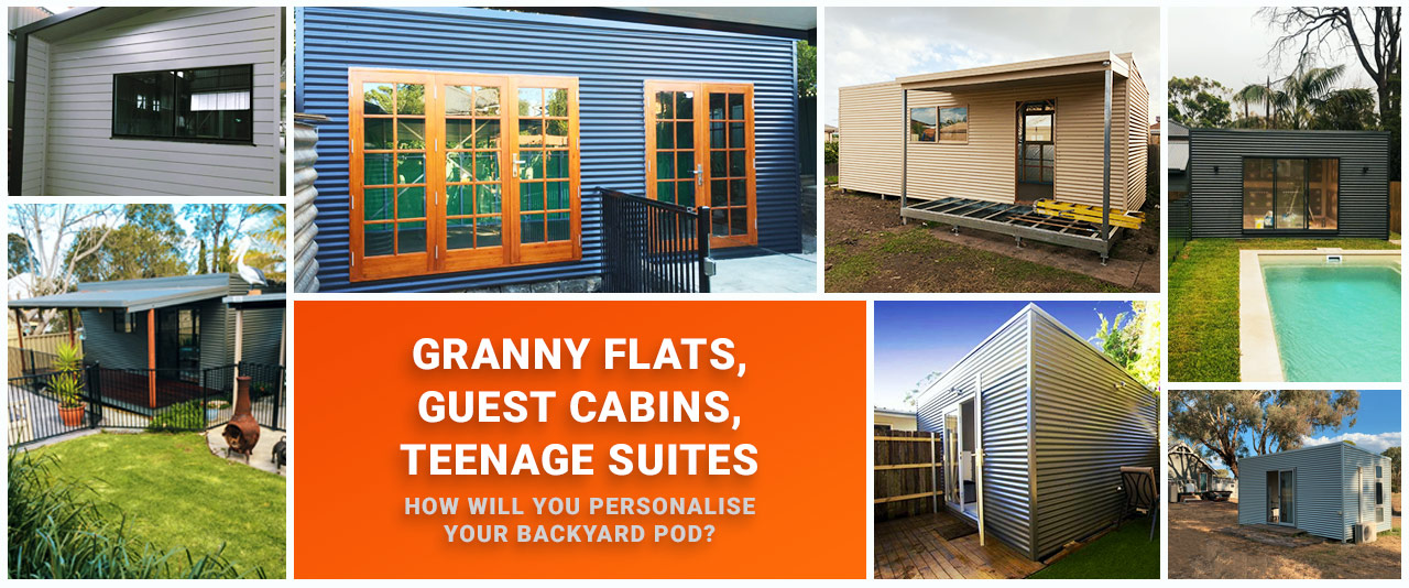 Backyard Pods, granny flats, teenage suites