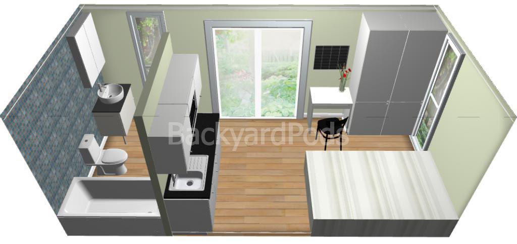 Backyard Pods   cabins - studios - granny flats   DIY kits