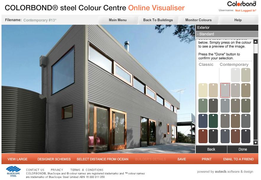 Colorbond Colour Visualiser