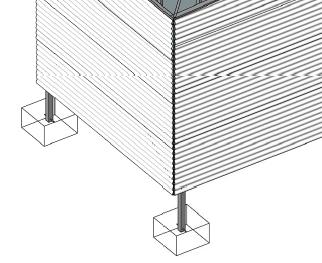 Optional DIY foundation piers