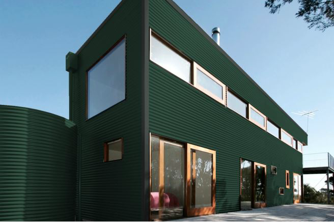 Colorbond® Cottage Green® building