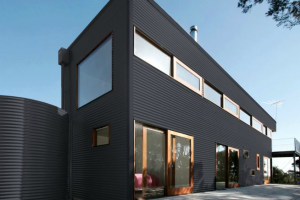 Colorbond® Ironstone® building