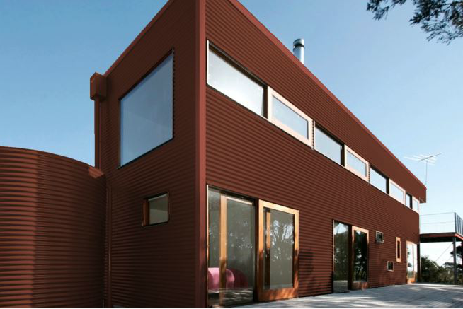 Colorbond® Manor Red® building