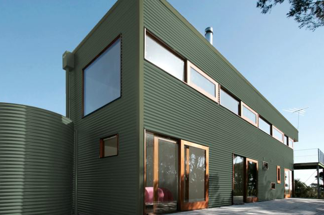 Colorbond® Pale Eucalypt® building