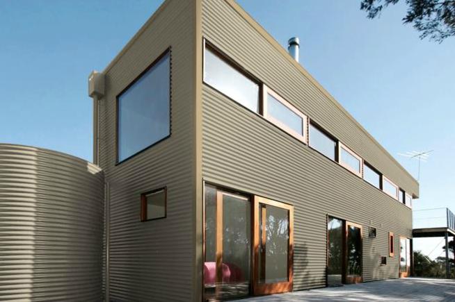 Colorbond® Paper Bark® building
