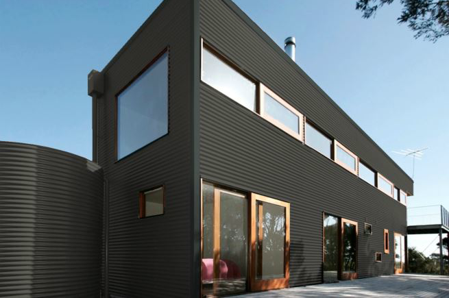 Colorbond® Woodland Grey® building
