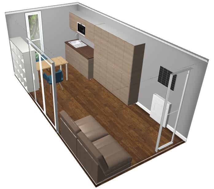 backyard pods - studio flat pod 2