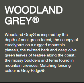 Colorbond® Woodland Grey®