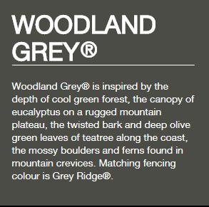 Colorbond® Woodland Grey®