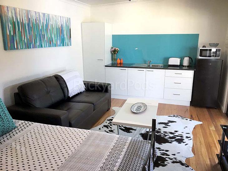 Backyard Pods granny flat pod 3.6m x 7m bedroom