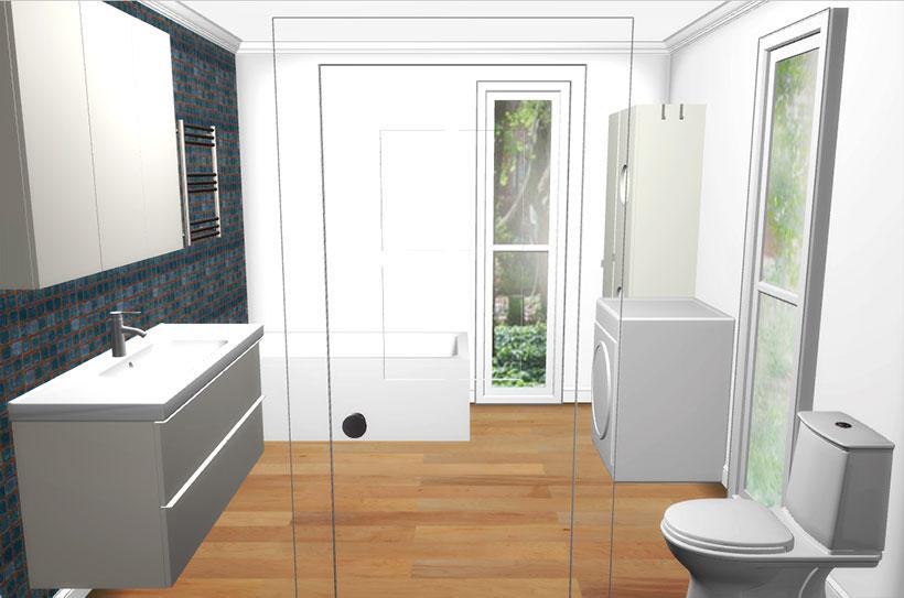 Backyard pods cabins studios granny flats diy kits for Bathroom design 3x3