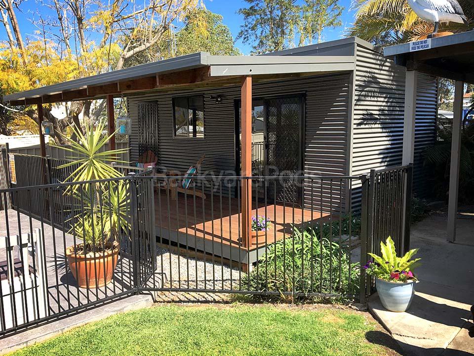 Backyard Pods granny flat pod 3.6m x 7m lawn