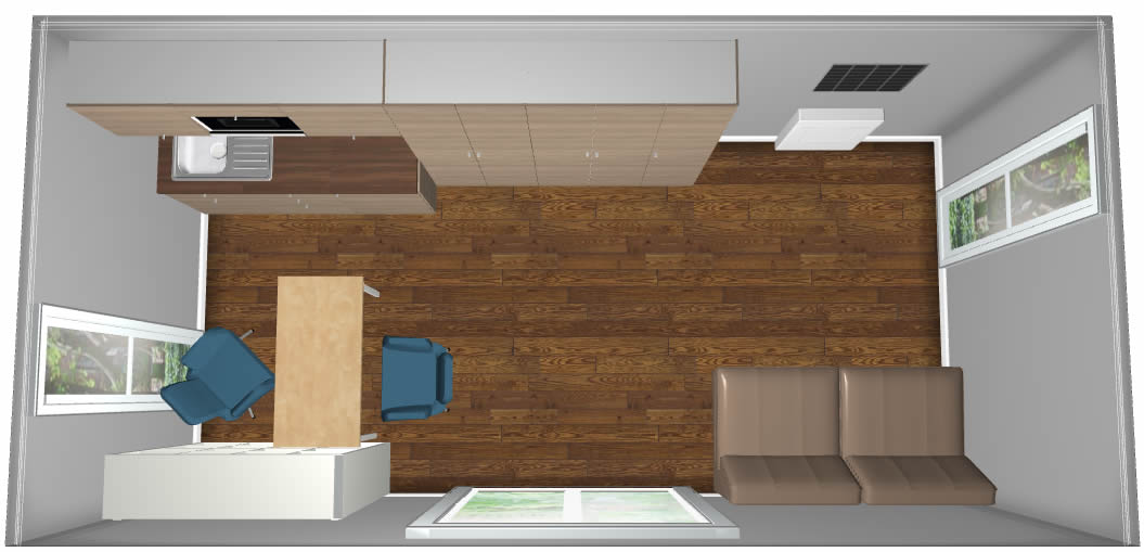 studio flat pod