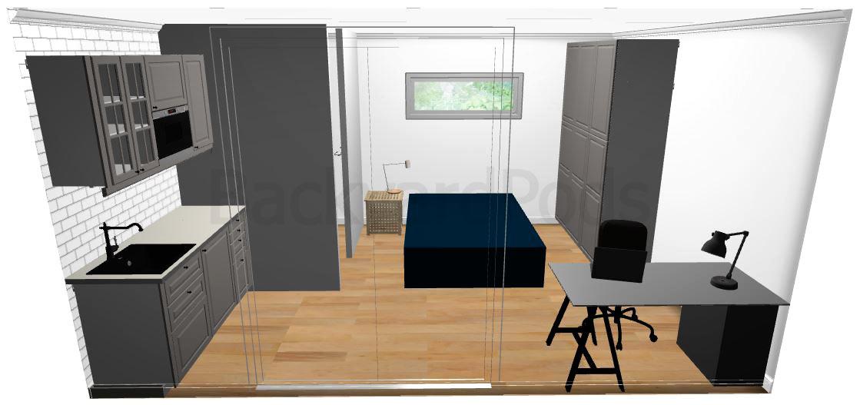 """Anni"" - SC studio garden flat 4m x 5m - front view"