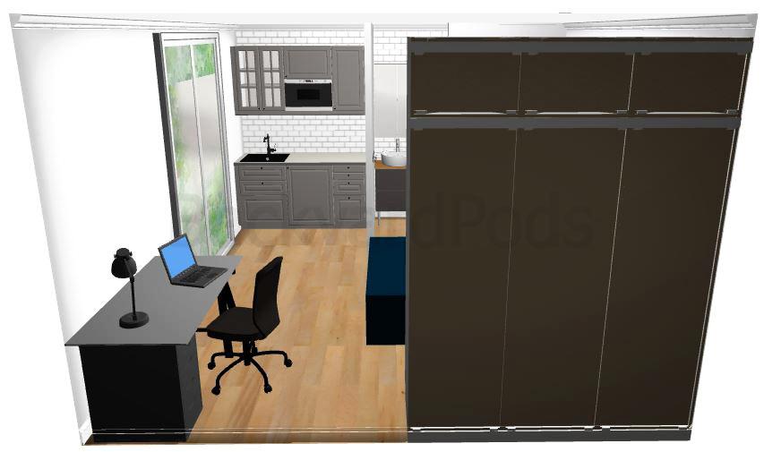"""Anni"" - SC studio garden flat 4m x 5m - study space"