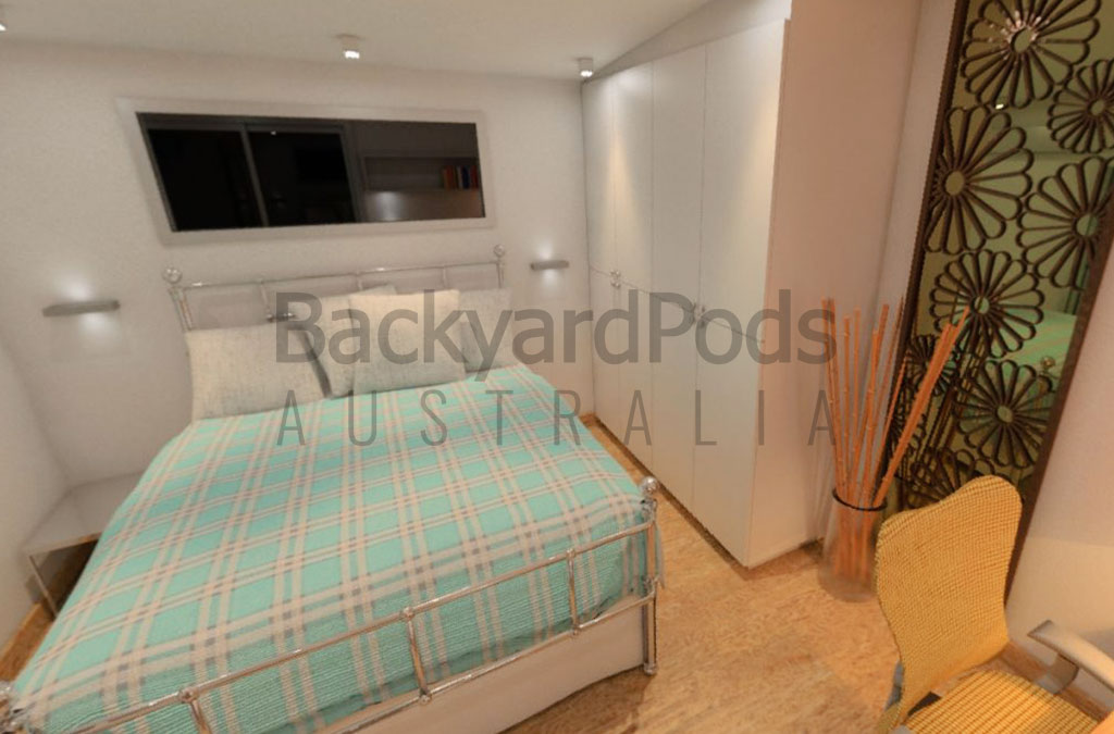 Compact studio flat 4m x 5m for homecoming Melbourne student