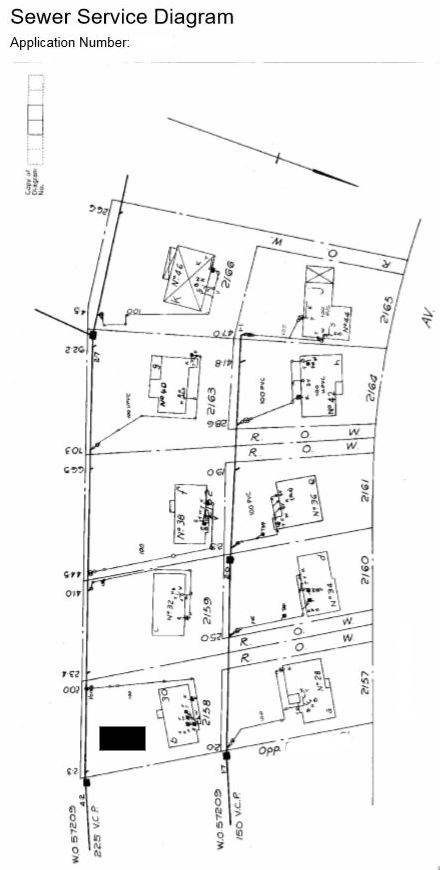 Sample sewer diagram
