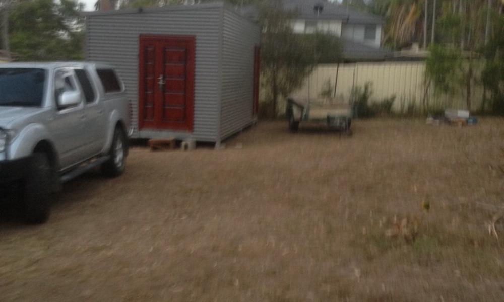 DIY backyard storage pod project