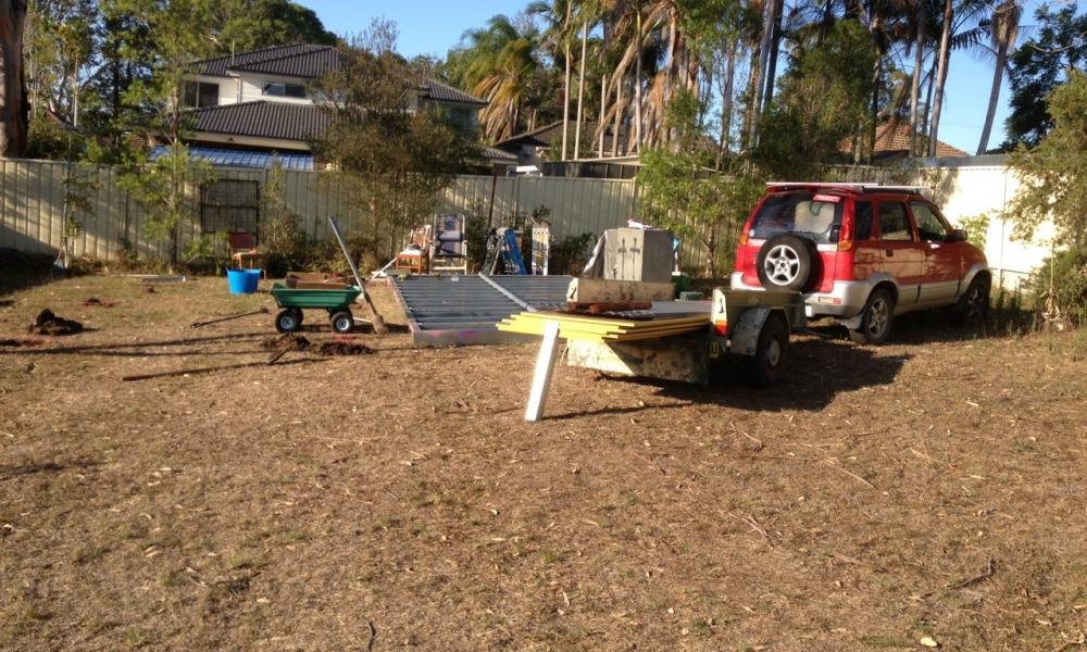 DIY Backyard Pod storage pod project - Day 1 - Delivery