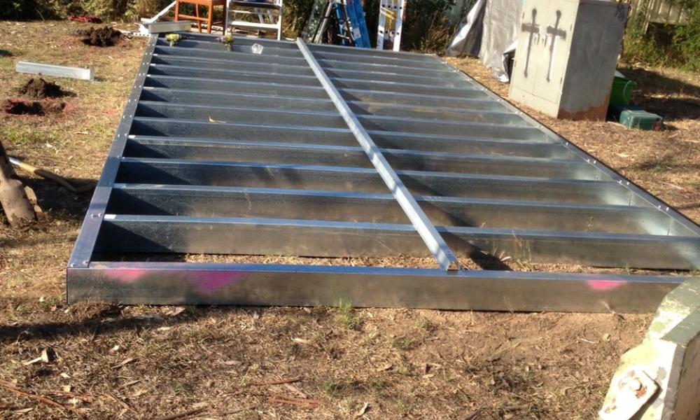 DIY Backyard Pod - Day 1 - floor assembly