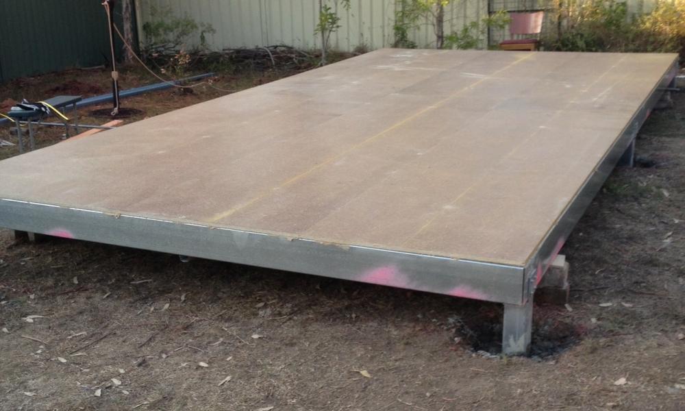 DIY backyard pod storage project - Day 2
