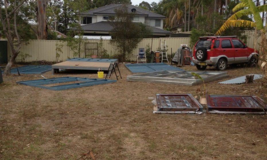 DIY backyard pod project - DAY 3
