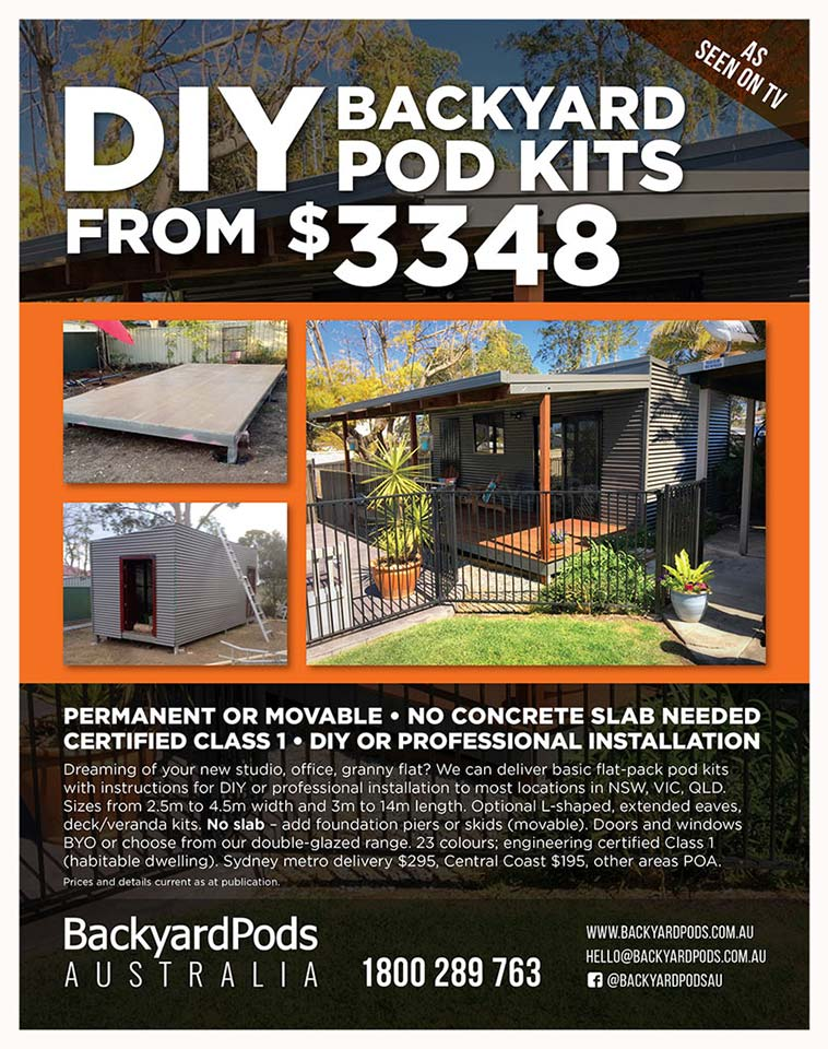 Handyman - DIY bedroom Backyard Pods feature