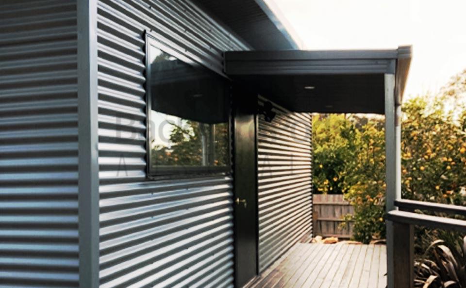Accessible granny flats (DPU) with eaves and veranda at Mornington, outside Melbourne, VIC