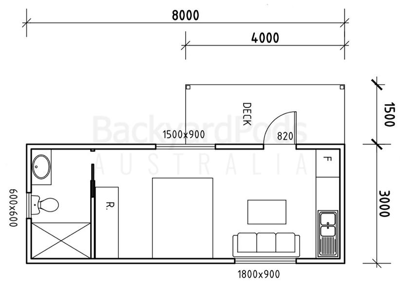 Accessible granny flat (DPU) with eaves and veranda at Mornington, outside Melbourne, VIC