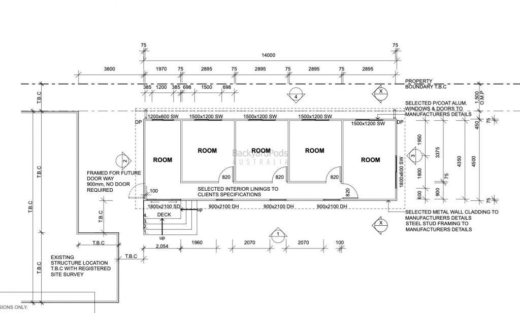 backyard-pods-diagram - 'Brady Bunch' sleep-out pod in Aspley