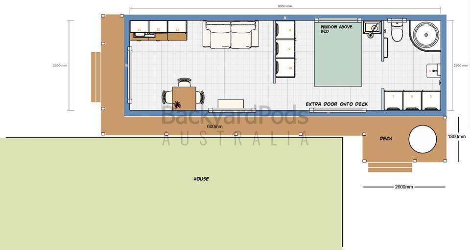 3m x 10m budget-minded granny flat at Redcliffe, Brisbane QLD