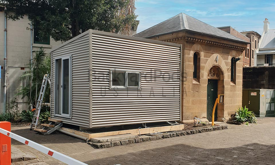 Movable office pods at National Art School, Darlinghurst, Sydney, NSW