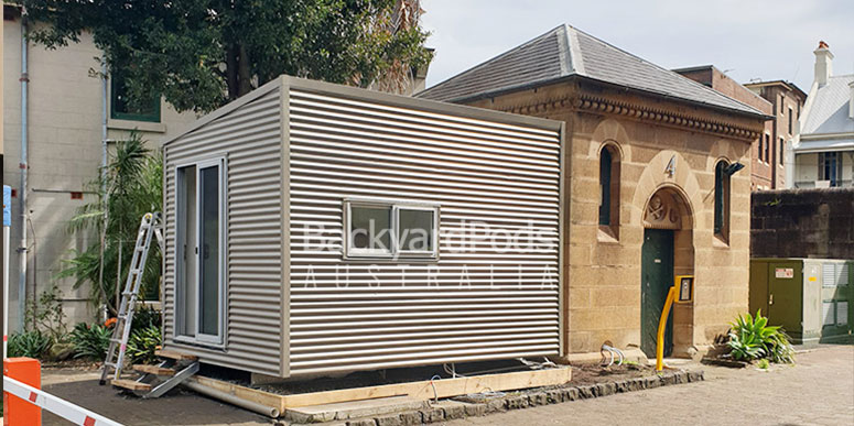 Relocatable office pod NAS, Darlinghurst