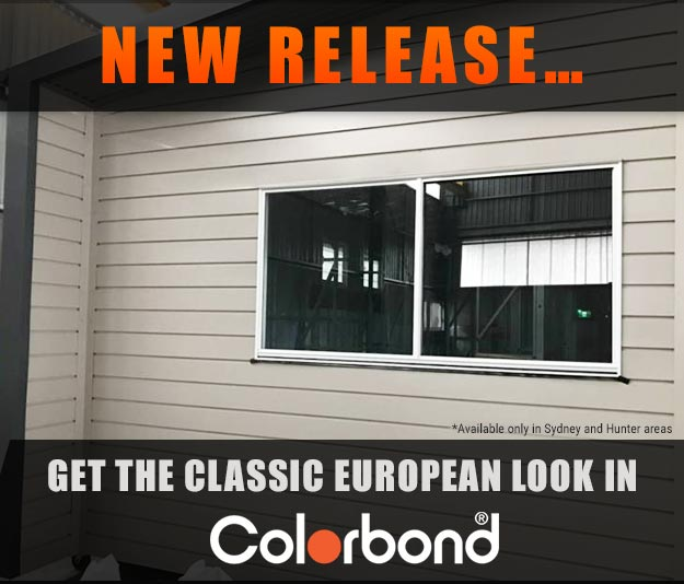 Weatherboard-look Colorbond cladding
