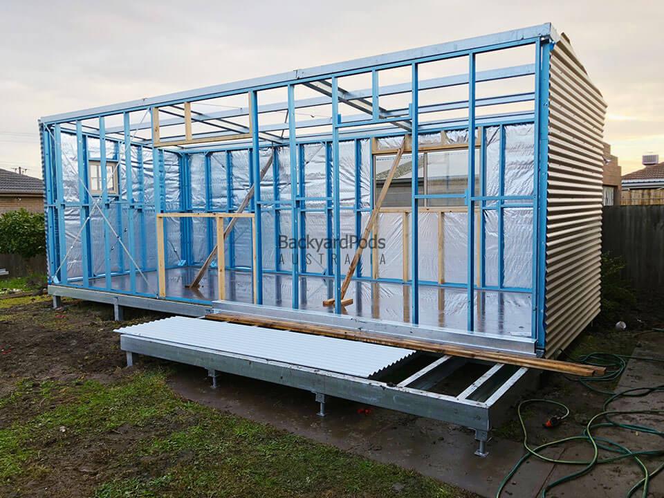 Affordable future-ready granny flat (DPU) 4m x 8m with veranda in Melbourne VIC
