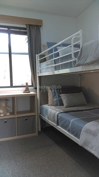 DIY 2-bedroom holiday cabin 3.6m x 13m Ballina, NSW - bedroom