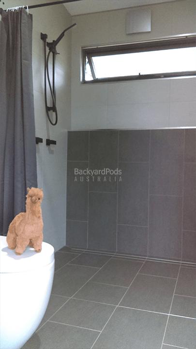 DIY 2-bedroom holiday cabin 3.6m x 13m Ballina, NSW - bathroom