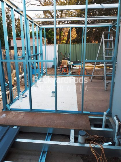 Bathroom and Laundry Extension 2.5 x 5m + 4 x 7m in Bonville cladding, Croydon NSW