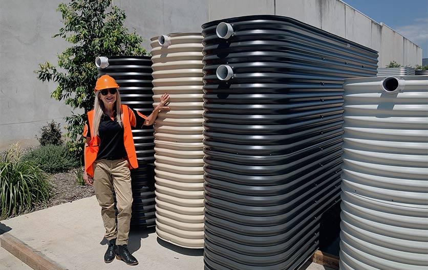 Kingspan slimline water tanks with Mel