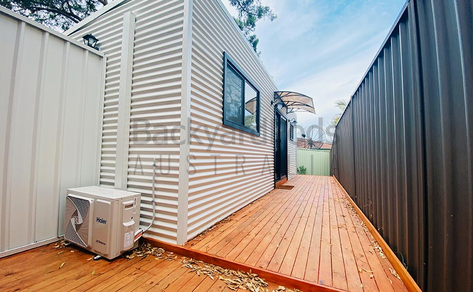 Granny flat display pod in Campbell, Sydney NSW
