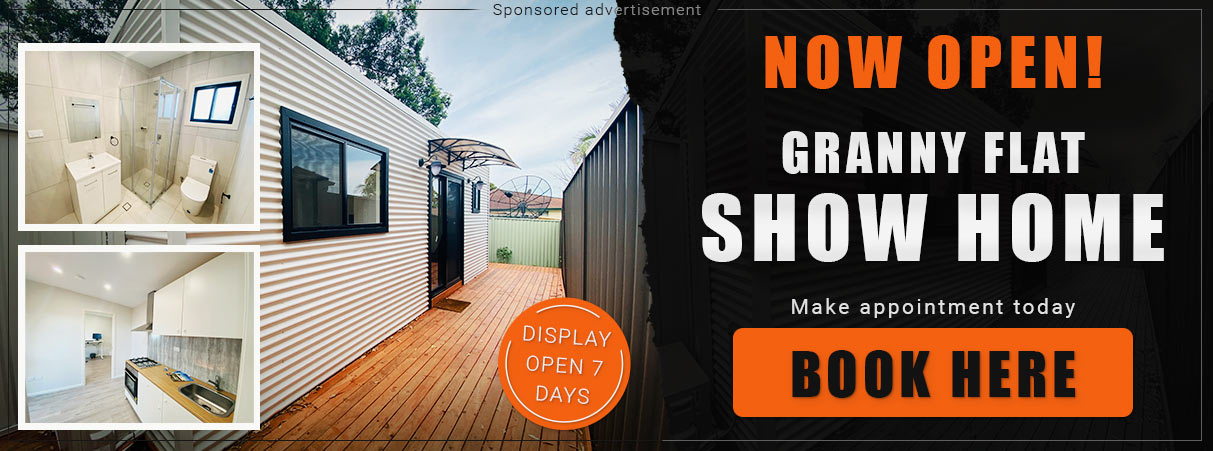 Granny flat, backyard pods, show home in Campbell NSW