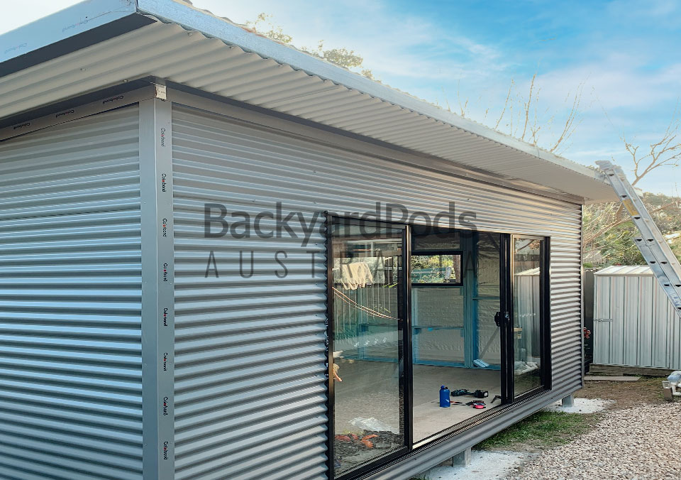 Poolside studio pod with eaves 4m x 5m Doncaster, VIC